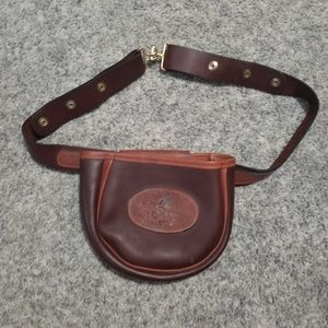 Handbags - Brown Leather Waist Belt Saddle Bag